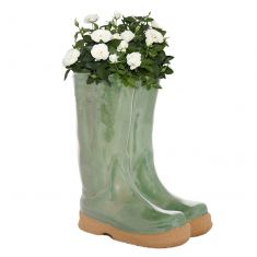 Sage Green Wellington Boots Planter