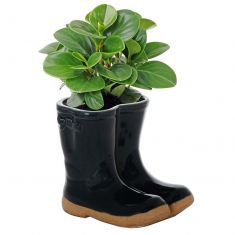 Blue Wellys Plant Pot