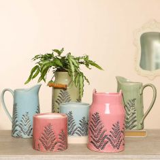 Botanical Pastel Ceramic Jugs and Planters