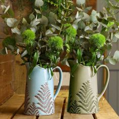 Ceramic Fern Display Pitcher Vases