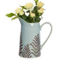 Sky Blue Fern Pitcher Jug Vase