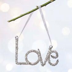 Sparkling Silver Love Tree Decoration