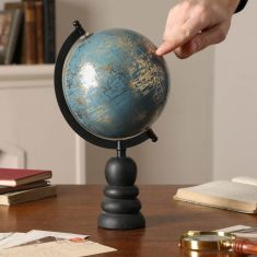 Cornflower Blue Decorative Desk Globe