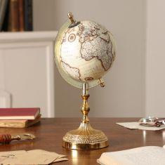 Antique Style Gold Desk Globe