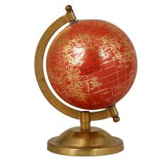 Deep Coral Mini Desk Globe