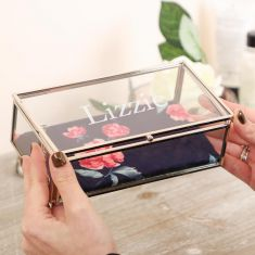 Personalised Botanical Glass Jewellery Box