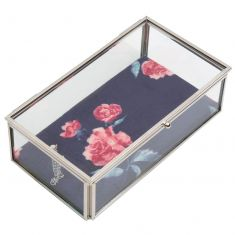 Coral Rose Glass Jewellery Box