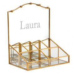 Personalised Gold Dressing Table Mirror Organiser