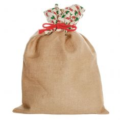 Candy Cane Jute Christmas Gift Sack