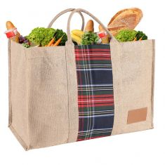 Extra Large Reusable Tartan Shopper