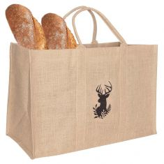 Stag Design Reusable Jute Shopper