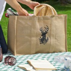 Sustainable Stag Family Picnic and Beach Bag