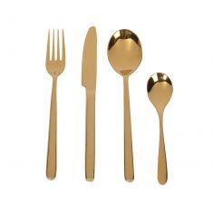 24 Piece Luxury Golden Cutlery Set