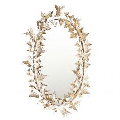 Oval Shaped Butterfly Wall Mirror