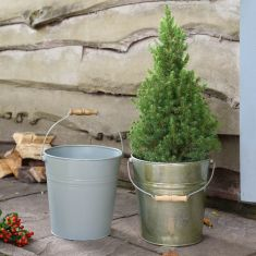 Rustic Winter Garden Planter Bucket Collection