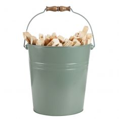 Large Sage Green Kindling Bucket