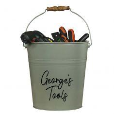 Personalised Sage Green Tool Bucket