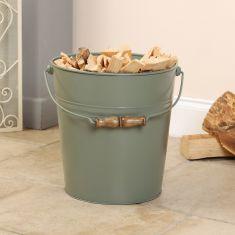 Large Sage Green Kindling Bucket