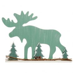 Standing Moose Christmas Decoration