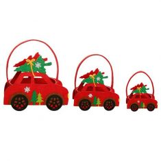 Set of 3 Car Shaped Christmas Gift Bags