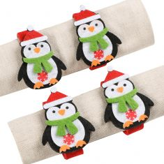 Set of 4 Felt Penguin Napkin Rings
