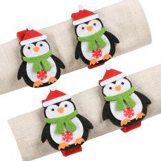 Set of 4 Felt Penguin Napkin Rings