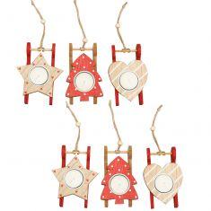 Set of 6 Nordic Winter Tealight Holders