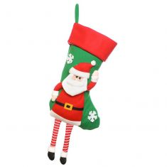 Santa Hanging Legs Christmas Stocking