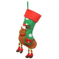 Reindeer Hanging Legs Christmas Stocking