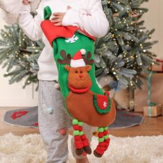 Christmas Characters Plush Childrens Stockings