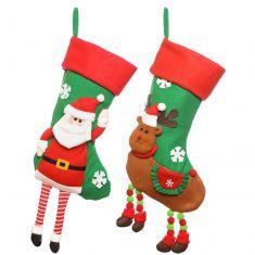 Santa and Rudolph Christmas Stockings Set