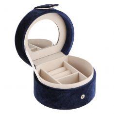 Personalised Blue Velvet Travel Jewellery Case