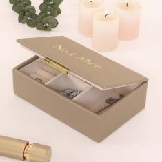 Personalised Mink Jewellery Box with Mirror