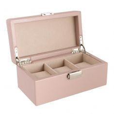 Three Section Champagne Pink Watch Box