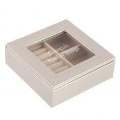 Personalised Grey Pearl Jewellery Case