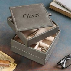 Personalised Men's Stacked Cuff-links Box
