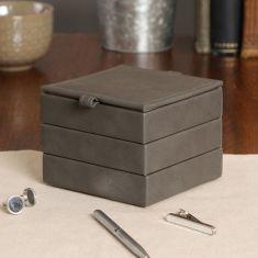 Pebble Grey Stackable Jewellery Boxes