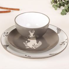 Grey Nordic Stag Crockery Collection
