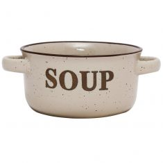 Peppered Cream Soup Bowl with Handles