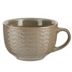Wythe Grey Stoneware Oversized Mug