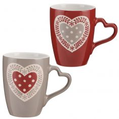 Set of 2 Country Heart Mugs