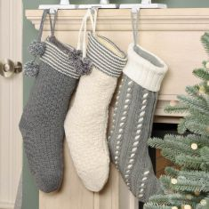 Nordic Forest Knitted Christmas Stockings