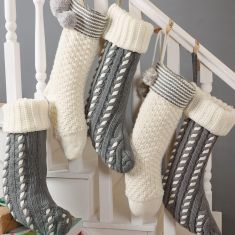 Hygge Chunky Knit Oversized Christmas Stockings
