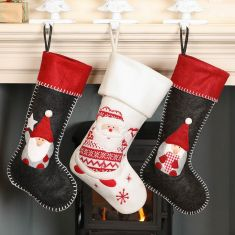 Nordic Mantlepiece Christmas Stockings