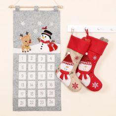 Children's Snowman Stockings and Advent Calendar