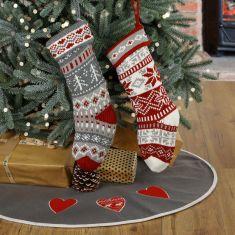 Soft Chunky Knitted Fair Isle Stockings