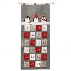 Christmas Penguins Hanging Advent Calendar