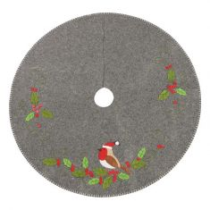 Robin and Holly Christmas Tree Skirt