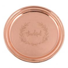 Thankful Etched Lazy Susan