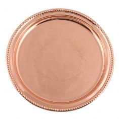 Etched Copper Lazy Susan